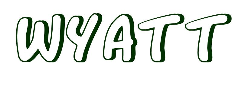 Coloring-Page-First-Name Wyatt