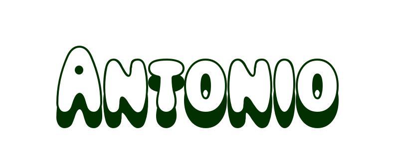 Dibujos De San Antonio Para Colorear: Dibujo Para Colorear Nombre Antonio