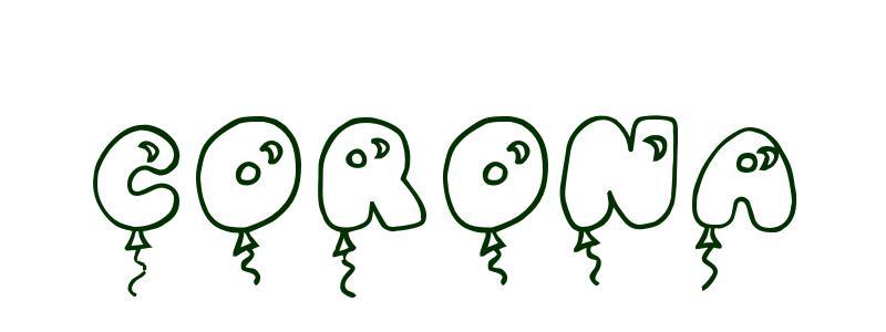 Dibujo para colorear Nombre Corona
