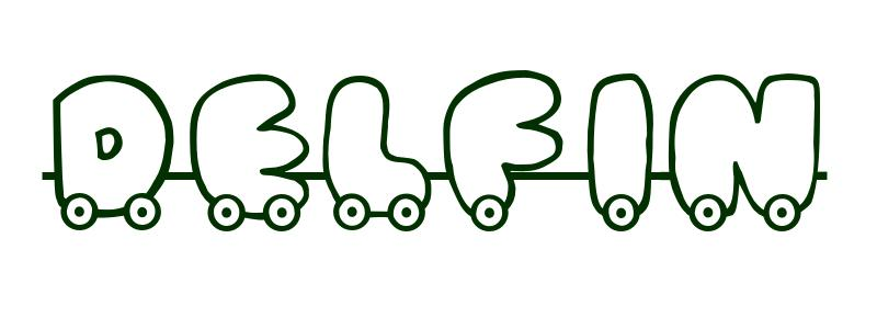 Dibujo para colorear Nombre Delfn