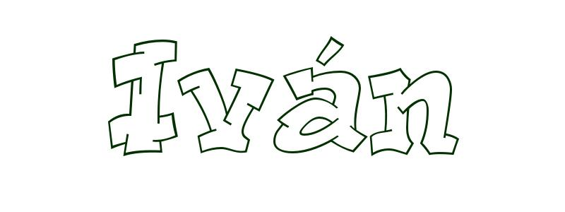 Dibujo para colorear Nombre Iván