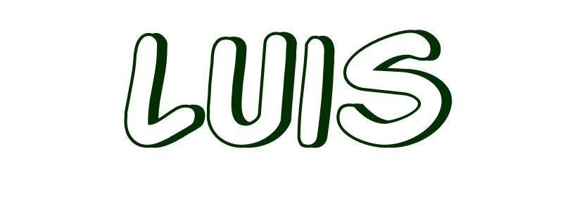 Dibujo para colorear Nombre Luis