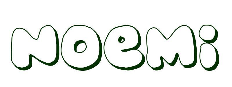 Dibujo Para Colorear Nombre Noem