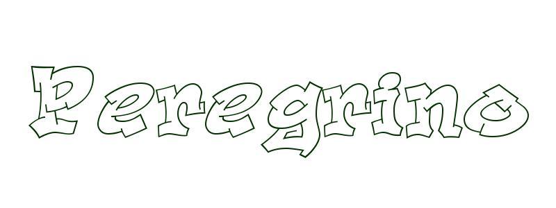 Dibujo para colorear Nombre Peregrino