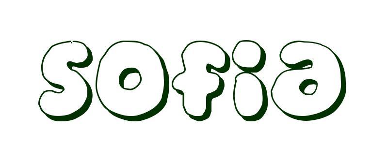 Dibujo Para Colorear Nombre Sofa Sofia The Coloring Page