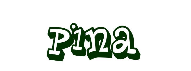 disegno da colorare nome pina