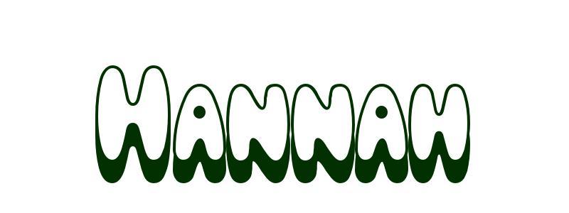 Malvorlagen Vorname Hannah