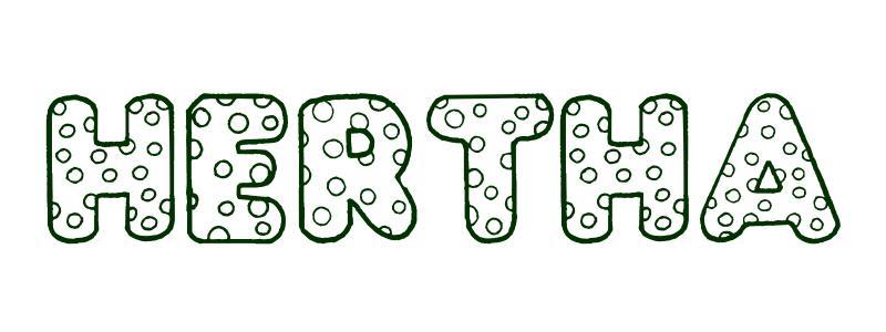Malvorlagen Vorname Hertha