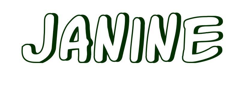Malvorlagen Vorname Janine