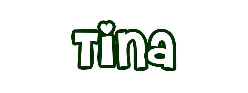 Malvorlagen Vorname Tina