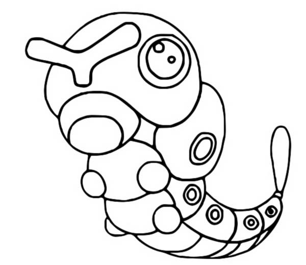 Disegni da colorare Pokemon - Caterpie - Disegni Pokemon