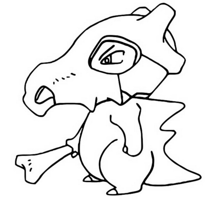 coloring pages cubone drawings