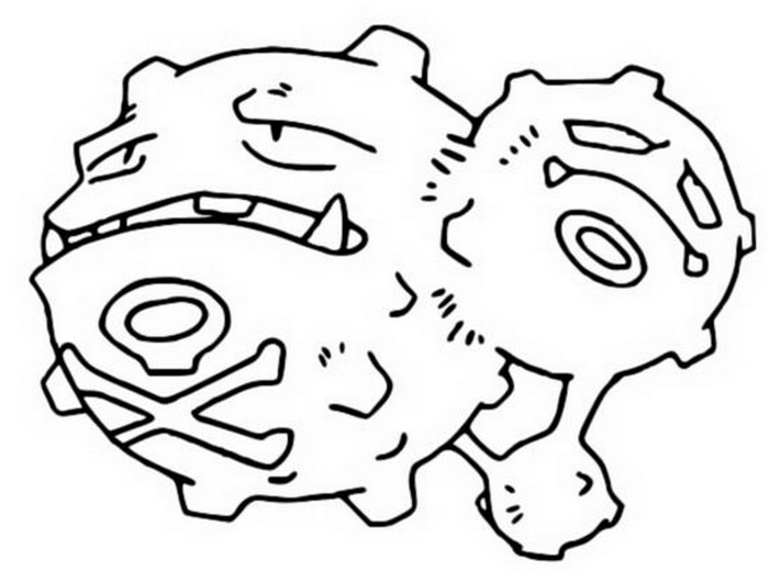 coloring pages pokemon - weezing
