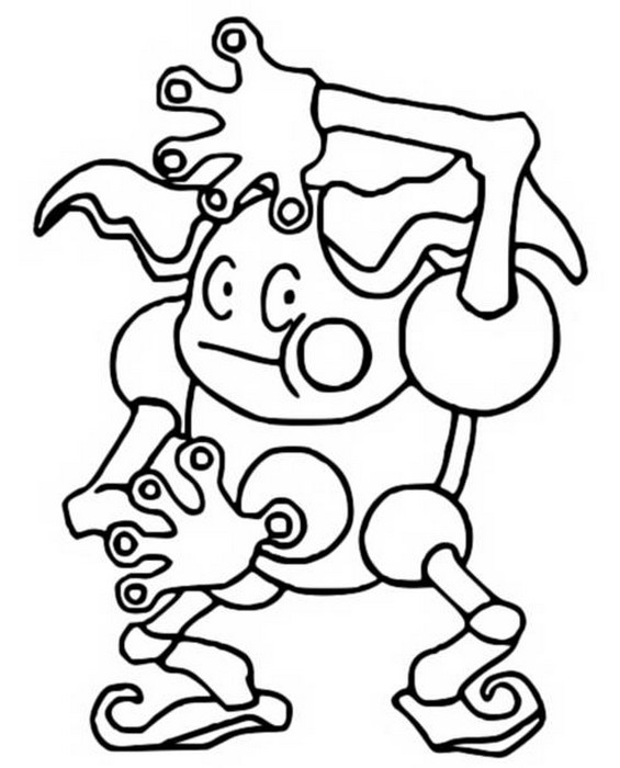 Coloring Pages Pokemon - Mr.Mime - Drawings Pokemon