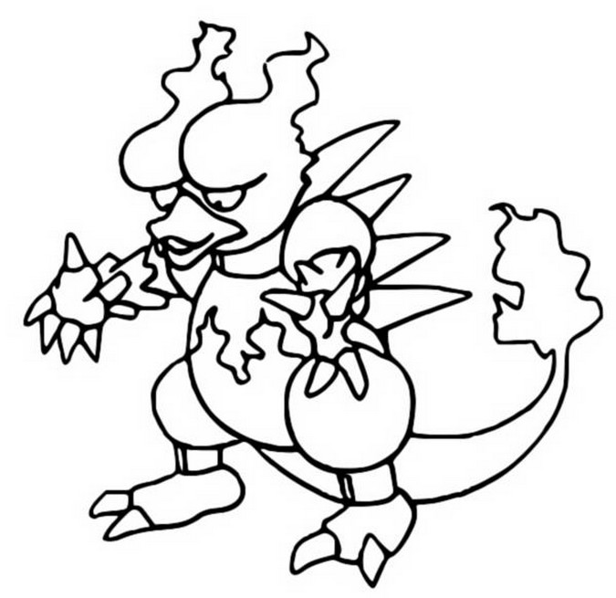 pokemon electabuzz coloring pages - photo #29