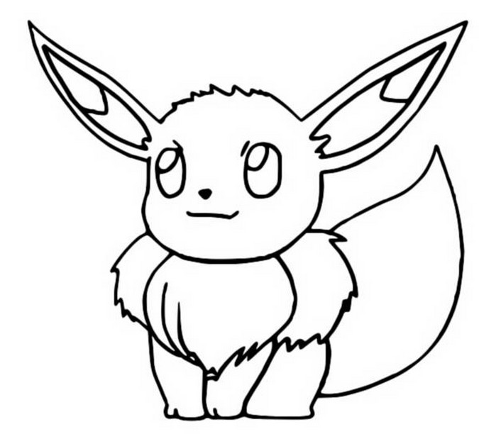 Coloring Pages Pokemon - Eevee - Drawings Pokemon