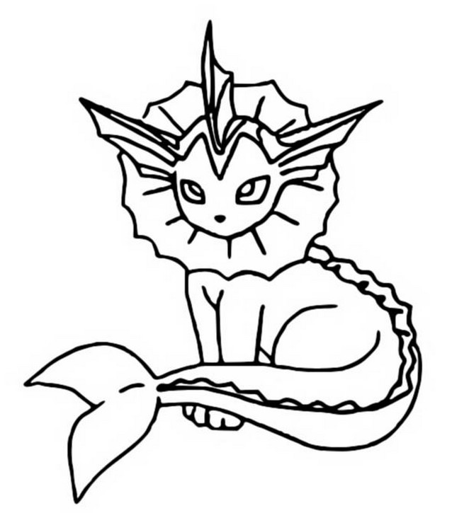 pokemon vaporeon coloring pages - photo#4