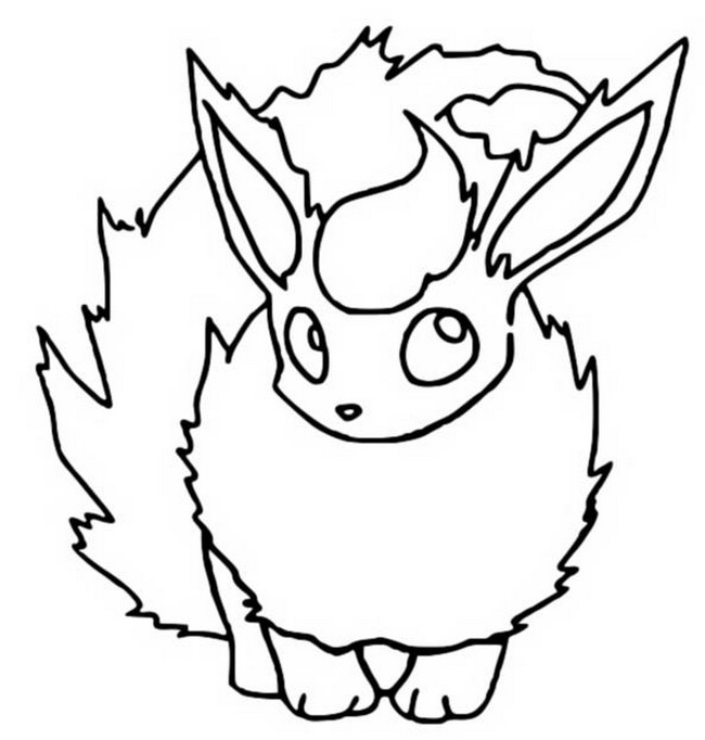 flareon coloring pages Coloring Pages Pokemon   Flareon   Drawings Pokemon flareon coloring pages