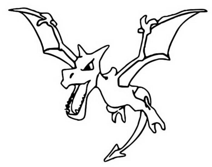 Coloring Pages Pokemon Aerodactyl Drawings Pokemon
