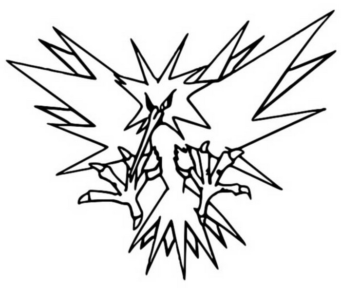 zapdos coloring pages - photo #6