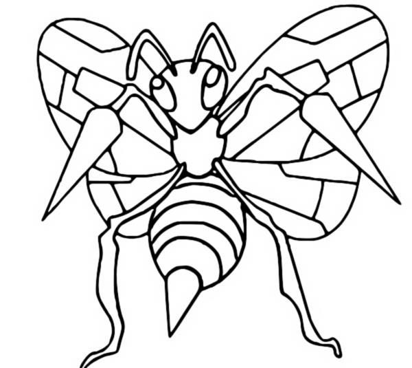 Coloring Pages Pokemon Beedrill Drawings Pokemon