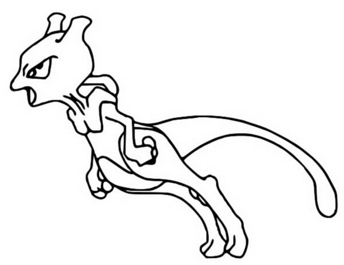 Coloring Pages Pokemon Mewtwo Drawings Pokemon