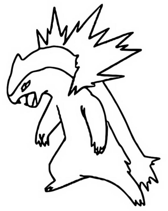 coloring pages pokemon typhlosion drawings pokemon Coloring Pages Pokemon Totodile Pokemon Empoleon Coloring Pages