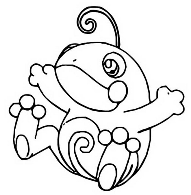 Pokemon Coloring Pages Politoad