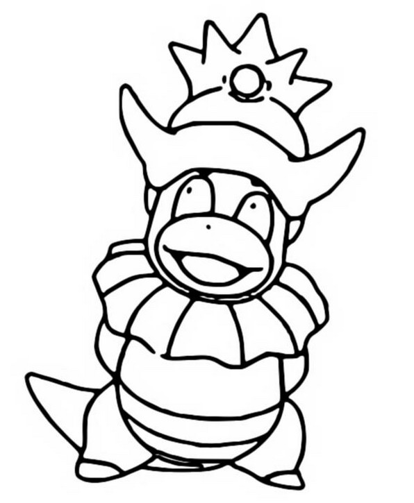 Coloring Pages Pokemon Slowking Drawings Pokemon