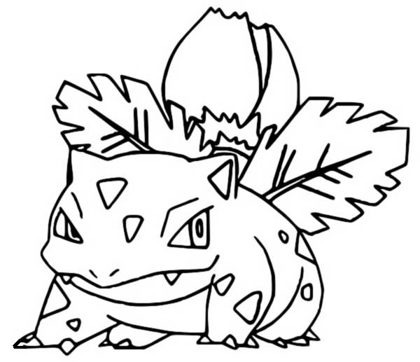 coloring pages ivysaur drawings