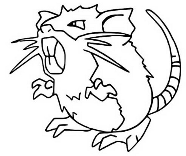 Raticate Coloring Pages