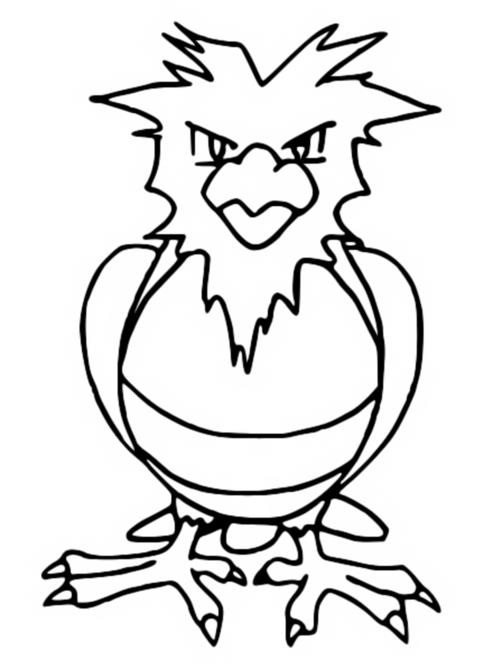 Coloring pages pokemon spearow drawings pokemon for Pidgey coloring page