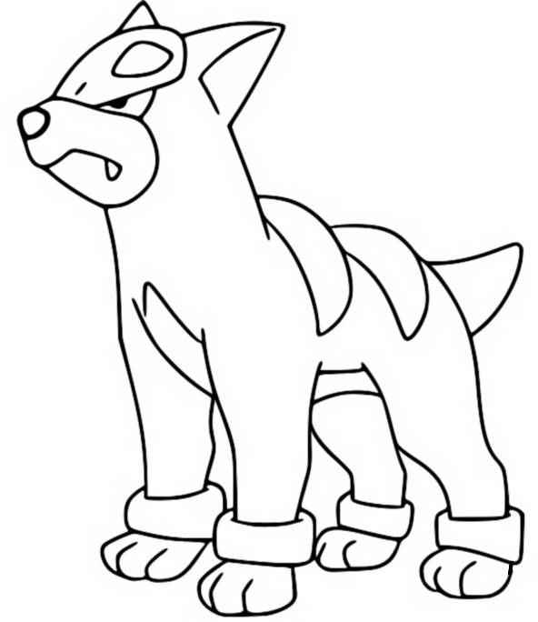 coloring pages houndour drawings