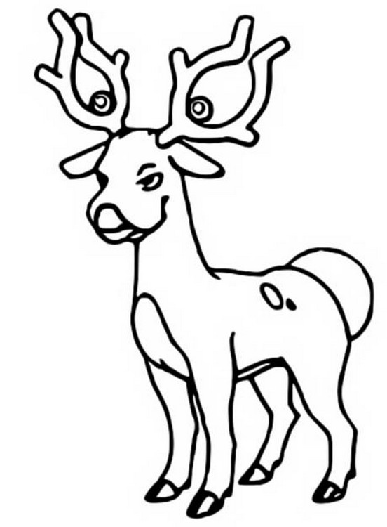 Coloring Pages Pokemon Stantler Drawings Pokemon