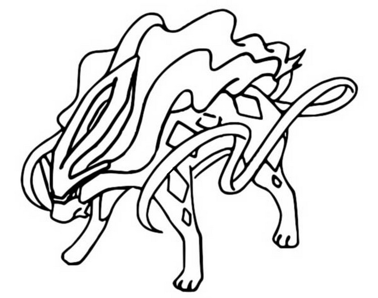Coloring Pages Pokemon - Suicune - Drawings Pokemon