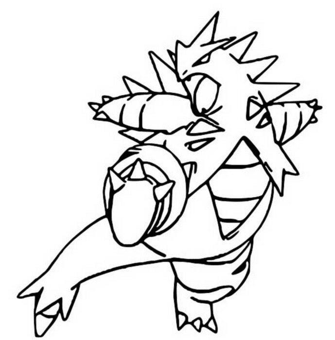 tyranitar coloring pages - photo#3