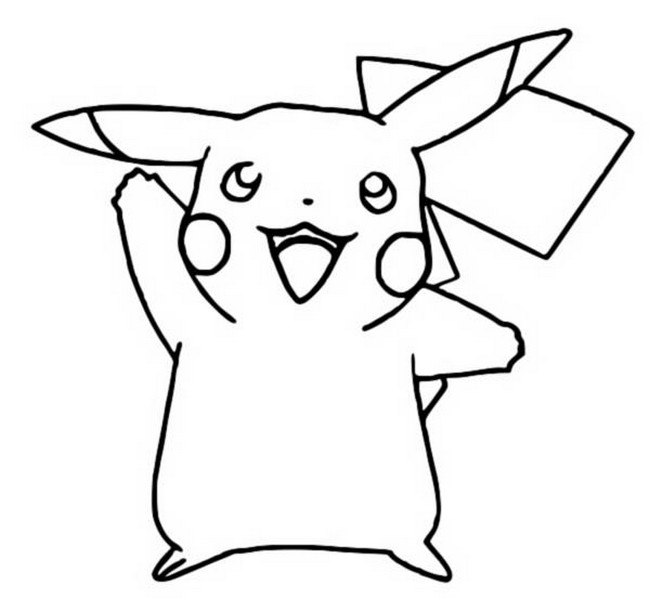 Coloring Pages Pokemon - Pikachu