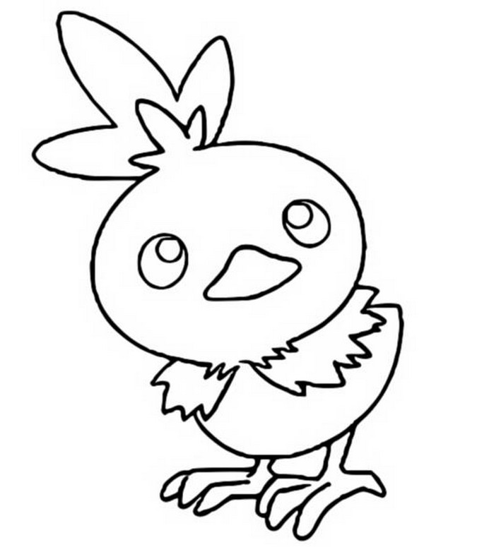 Coloring Pages Pokemon Torchic Drawings Pokemon Torchic Coloring Pages