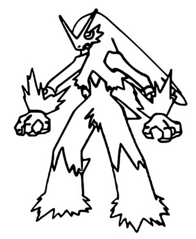 Mega Blaziken Coloring Pages Coloring Coloring Pages