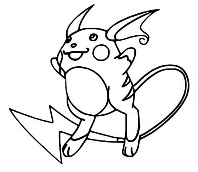 Coloring Pages Pokemon Raichu Drawings Pokemon
