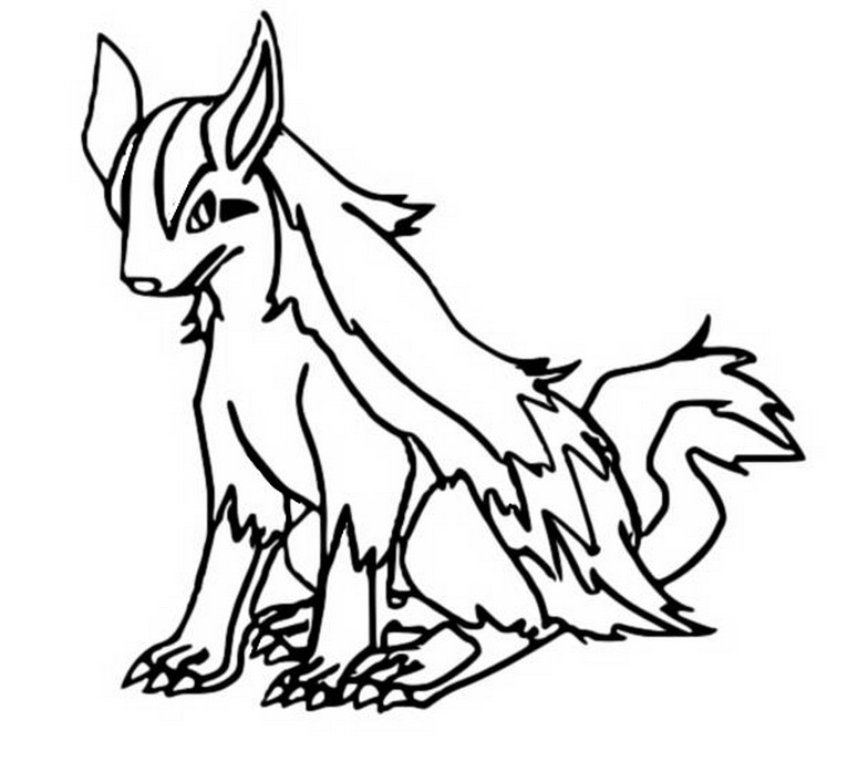 Mightyena pages coloring pages for Poochyena coloring pages
