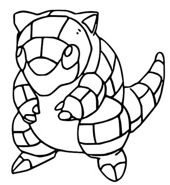 pokemon sandshrew coloring pages - photo#1