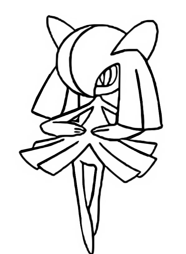 gallade coloring pages - photo#28