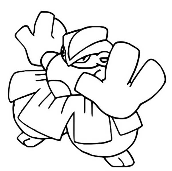 Kleurplaten Pokemon - Hariyama - Kleurplaten Pokemon