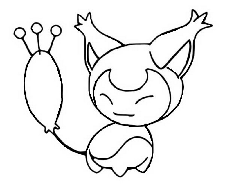 Skitty Pokemon Coloring Page