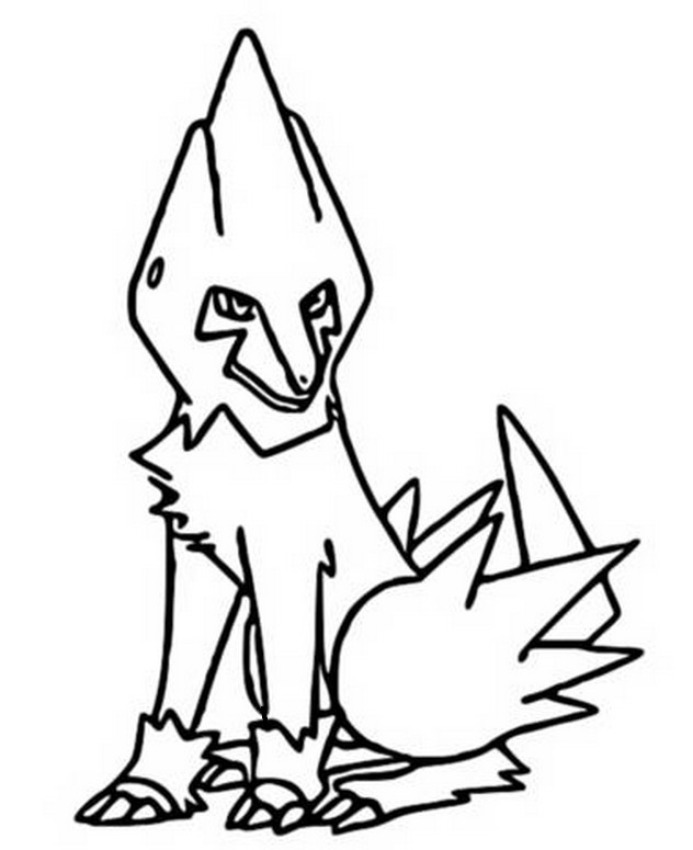 coloring pages pokemon manectric drawings pokemon