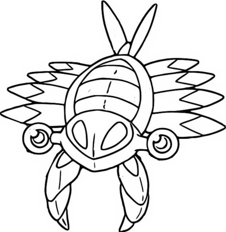 Coloring Pages Pokemon - Anorith - Drawings Pokemon