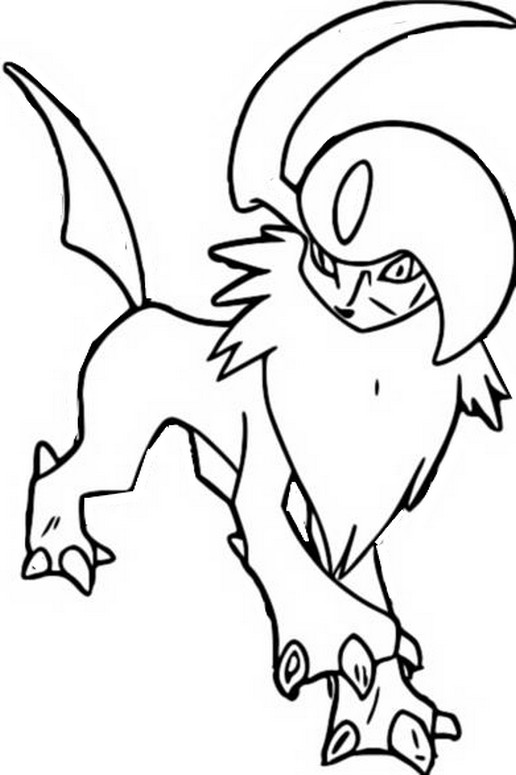 coloring pages absol - photo#6