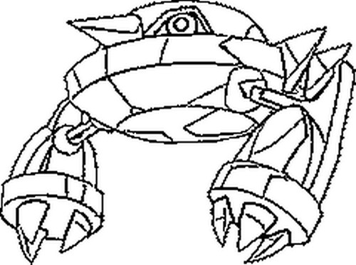 metagross pokemon coloring pages - photo#14