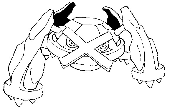 metagross pokemon coloring pages - photo#3